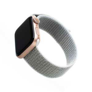 Nylonový řemínek Fixed Nylon Strap pro Apple Watch 44mm/ Watch 42mm, bílošedý